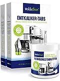 Pflegeset 40x Entkalkungstabletten & 260x Reinigungstabletten für Kaffeevollautomaten Kaffeemaschine - kompatibel mit allen Maschinen