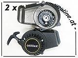 kmhonline Pocket/Dirt Bike 49cc Seilzugstarter SET (2 Stück) (schwarz)