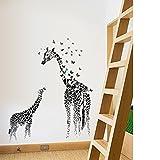 Beyond Wandsticker Giraffe schwarz Wandtattoo Wandbilder Kinderzimmer Wohnzimmer Deko