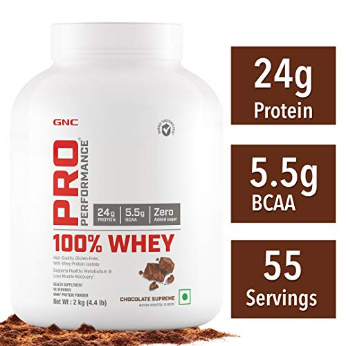 GNC Pro Performance 100% Whey Protein - 2 kg (Chocolate Supreme)