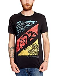 Game of Thrones Diagonal Sigil Mens Black, T-Shirt Homme