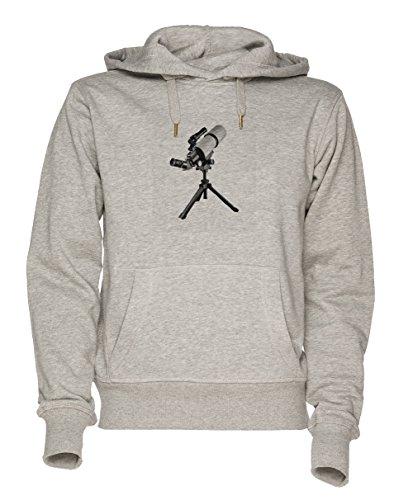 Fernglas Unisex Grau Sweatshirt Kapuzenpullover Herren Damen Größe M