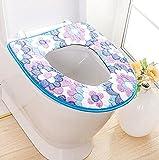 Wmshpeds Herbst und Winter gepolsterte Korallensonneblume Toilette Pad wasserdicht antibakterielle Sitzpolster warme sit Toilette 135g zwei loaded