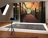 YongFoto 1,5x1m Vinyl Foto Hintergrund Alte Kirche des verlassenen Korridors Shabby Chic Vintage Window geschälte Tapete Grunge Fotografie Hintergrund für Fotoshooting Portraitfotos Party Kinder Hochzeit Fotostudio Requisiten