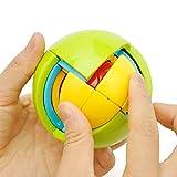 HJXDtech- Juguetes educativos 3D Mágico Puzzle Ball Montaje 4 Capas Bloques de Construcción Bola Intelectual