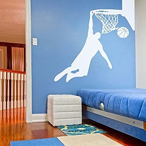 MairGwall Sport Decal Basketball Hoop Wall Decal Silhouette Decal Boy Bedroom Art Graphics