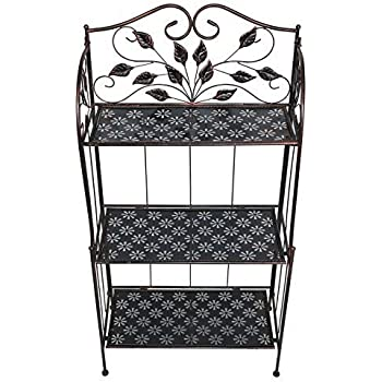 gartenregal metall bronze gr n blumenregal pflanzenregal blumenst nder garten. Black Bedroom Furniture Sets. Home Design Ideas