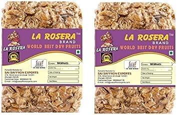 La Rosera Light Quarter Walnuts (Akhrot) 500g (250gm x 2)-Without Shell.