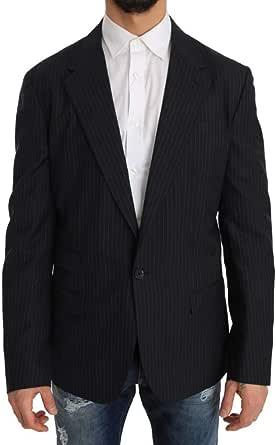 Dolce & Gabbana Gray Striped Wool Jacket Coat Slim Blazer