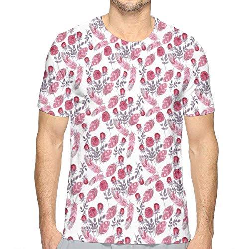 3D gedruckte T-Shirts, romantische Retro Rosen-botanische Garten-Zusammensetzungs-Sommer-Blüten - Botanische Rosen