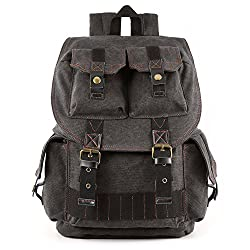 Kattee Canvas Camera Backpack, Dslr Slr Camera Bag For Sony, Nikon,etc