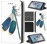 CoverFix Premium Hülle für Samsung Galaxy S4 / S4 Neo Flip Cover Schutzhülle Kunstleder Flip Case Motiv (679 Libelle Blau Weiß Animiert)