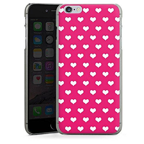 Apple iPhone X Silikon Hülle Case Schutzhülle Polka Herz Pink Weiß Hard Case anthrazit-klar