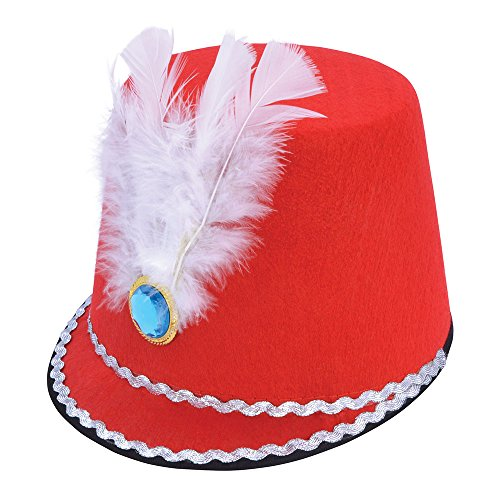 Bristol Novelty bh638 Majorette Hat, Herren, Rot, One size (Band Nussknacker)