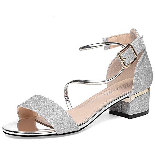 f303713a4 SANDALIAS DUO CHANCLAS SANDALS Zapatos de mujer PU Primavera Verano Chunky  Heel Peep Toe para Fiesta