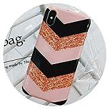 Fashion Geometry Coque en Silicone pour iPhone 7 6 6S 8 Plus Coloré Brillant Soft...