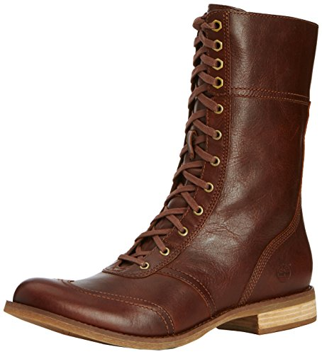 Timberland Women   s Savin Hill FTW EK Savin Hill Mid Zip Toe Cap Boot Cold lined classic boots half length Brown Size  4