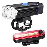 Night Owl USB Wiederaufladbares Fahrradlicht Set, perfekt Commuter Sicherheit Vorder- und Rückseite Fahrrad Licht LED Combo - GRATIS Bright Schwanz Light - Kompatibel mit Mountain, Road, Kinder & City Fahrräder
