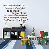 """Faites un best friend tell the truth surmenage ich liebe dich ... inspirational vinylwand veranschlägt les récipients décoration pour chambre d'enfant motif une salle d'art, Vinyle, custom, 25""""hx34""""w"""