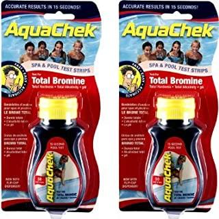 AquaChek BROMINE POOL AND SPA TEST STRIPS x 2 Bottles