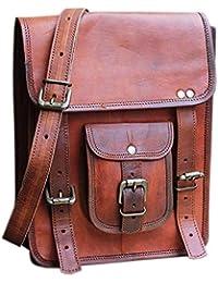 """SR Vintage Handmade Full Flap 100% Genuine Leather Messenger Bag/Office Bag/Laptop Bag/Sling Bags 11""""(H) X 9""""(L)"""