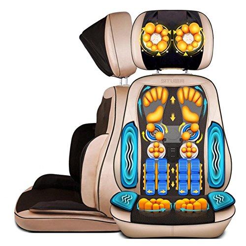 SHISHANG Massagesessel mit Wärme mechanische Hand-Line Control abnehmbar (Hals / Taille / Schultermassage Pad / Home multifunktionale Massagekissen) Gold Gold -