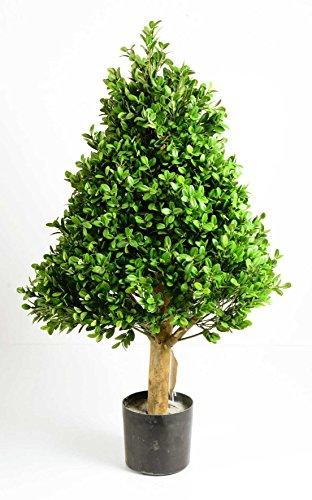 Deko Bux-Pyramidenbaum getopft, HxØ:ca.81x45cm, gedrahtete Äste, ca.8448 Textilblätter, Naturstamm,sehr natürlich!