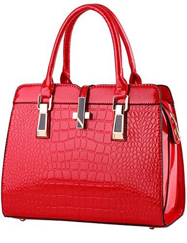 Menschwear Damen Handtasche Marken Handtaschen Elegant Taschen Shopper Reissverschluss Frauen Handtaschen Rot