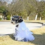 PAWZ Road weisses Brautkleid Hochzeitskleid Festtagskleidung fr Hunde und Katzen mit Schleife