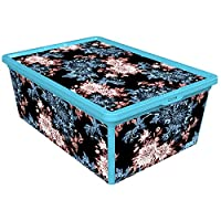 QUTU TrendBox Backyard Storage Box, Blue, H23.4 x W35.6 x D14.2 cm