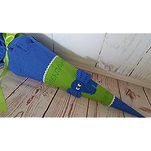 #172 Elefant Schultüte Stoff + Papprohling + als Kissen verwendbar