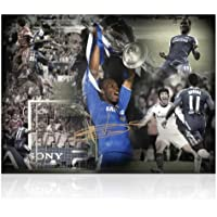 Didier Drogba Chelsea Football Firmato Foto: Champions League Hero (Large)