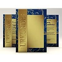 Lote de papel dorado para diplomas o certificados (10 unidades, 190 g/m²)