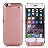 ZOGIN Funda Batería iphone 6 plus / iphone 6s plus, 10000mAh Funda Protectora Cargador / Funda de Batería Integrada Recargable de Alta Capacidad para iPhone 6 plus / 6s plus 5.5', Color Rosa