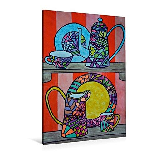 Calvendo Premium Textil-Leinwand 80 cm x 120 cm hoch, Ein Motiv aus Dem Kalender De Hessisch-Kalenner - hessisch babbele Lerne in aam Johr | Wandbild, Bild Leinwand, Leinwanddruck Kunst Kunst