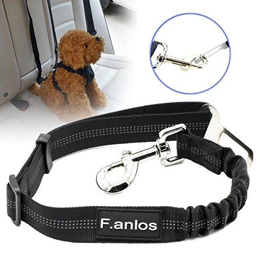 Hunde-Sicherheitsgurt, Hunde Sicherheitsgurt für Auto, Hunde-Anschnallgurt fürs Auto mit elastischer Rückdämpfung, mit elastischer Ruckdämpfung für maximalen Komfort und höchste Sicherheit