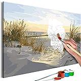 murando - Malen nach Zahlen Strand Meer 60x40cm Malset DIY n-A-0750-d-a