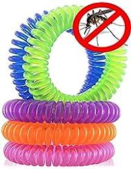 Hosaire Art Naturals Repelente de mosquitos pulseras 10 Pack repelente de control de plagas hasta 250 horas de protección de insectos, al aire libre y de interior, bandas de muñeca para adultos y niños - no spray, sin Deet - todos los aceites vegetales naturales