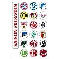 DFL 1. Bundesliga Magnettabelle - Vereinswappen (Saison 2018-2019)