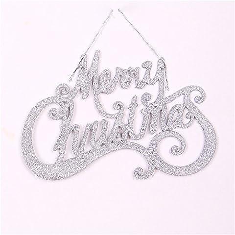 Yifom carta de Navidad Adornos de Navidad ornamento ornamento de plata,