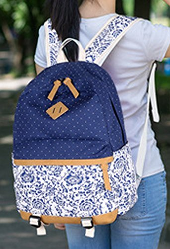 Longzibog Dual verstellbare Schultergurte und Hängeschlaufenband 2016 Neue Maedchen Rucksack Schulranzen Mehrfarbig 13