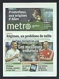 METRO [No 2197] du 17/04/2012 - REGIMES - UN PROBLEME DE TAILLE - PHILIPPE POUTOU - OUVRIER AVANT TOUT - LA SECRET STORY D'APPLE - NORVEGE - LES LARMES ODIEUSES DE BREIVIK - LES SPORTS - FOOT LIGUE DES CHAMPIONS - ESSONNE - LE SUSPECT DES MEURTRES ECROUE