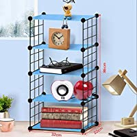 Biblioteca de Bricolaje Display Storage Shelf Room Divider Step Rack, Capacidad máxima de Carga de Cada Cubo: 10 Kg, L32 X W22 X 45 Cm, Azul (Tamaño : 5 Floors)