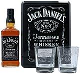 Jack Daniel's Tennessee Whisky en Tinbox avec 2 Verres 700 ml