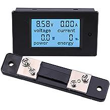 Yeeco Multimetro Digitale DC 6.5-100V Energy Meter 50A Voltmetro Amperaggio Tensione di Alimentazione DC Volt Amp Corrente Watt Meter Gauge Digital Display Monitor LCD di Alimentazione con 50A / 75mV Shunt