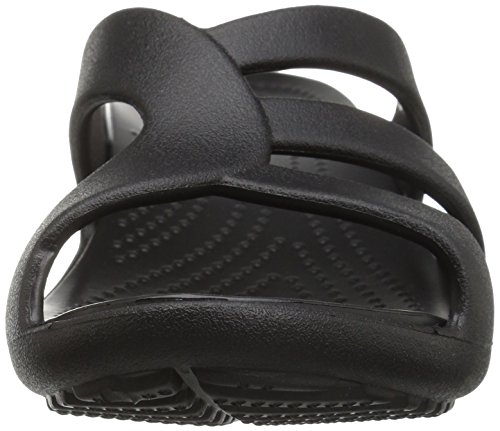 Crocs Sanrah Strappy Wedge W, Infradito Donna Nero (Black)