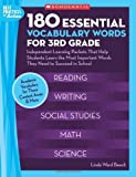180 Essential Vocabulary Words for 3rd Grade: Independent Learning Packets That Help Students Learn the Most Important W