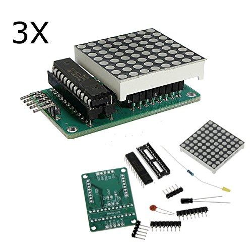 MYAMIA 3Pcs Max7219 Dot Matrix Modul DIY Kit Scm Control Modul Für Arduino - Drucker, Dot-matrix-zubehör