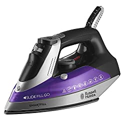 Smartfill: Russell Hobbs 21262 Smartfill Steam Iron with Removable Water Tank, 2400W, Purple