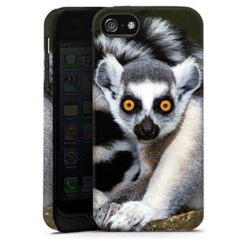 Apple iPhone X Silikon Hülle Case Schutzhülle Lemur Affe Madagaskar Tough Case matt